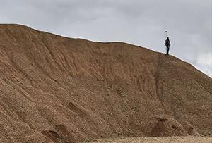 Геодезическая съемка для подсчета объёмов складированного песка и щебня. Сергиево-Посадский муниципальный район