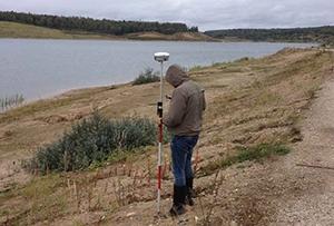 Разбивка скважин для проведения инженерно-геологических изысканий на территории ГАЭС-2. Сергиево-Посадский муниципальный район