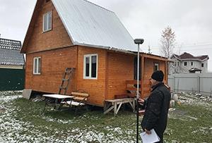 Привязка дома и обмер для подготовки технического плана на жилое строение. Сергиево-Посадский район