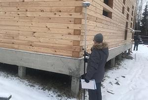Топосъемка и обмер дома для подготовки технического плана. Пушкинский муниципальный район