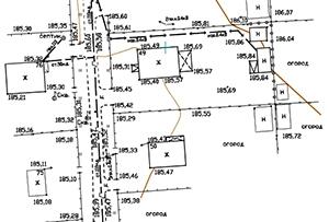 Топосъемка земельного участка, выполнена для подключения газа. Московская область, г. Хотьково.