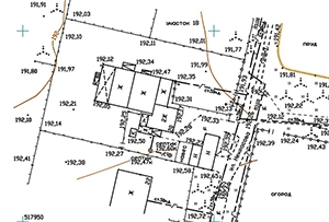 Топосъемка земельного участка, выполнена для подключения газа. Московская область, Сергиево-Посадский муниципальный район.