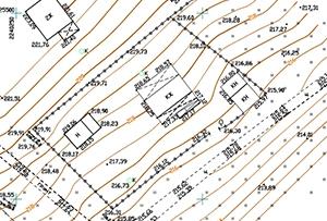 Топосъемка выполнена для получения разрешения на строительство и межевания. Московская область, с.п. Лозовское.