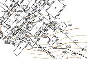 Топосъемка выполнена для подключения газопровода. Московская область, с.п. Лозовское.