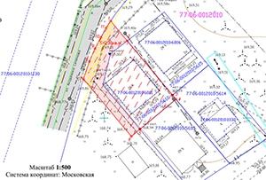 Схема расположения земельного участка на кадастровом плане территории, выполнена для прирезки. г. Москва.