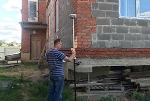 Топосъемка выполнена для разработки проекта водосннабжения и канализации жилого дома. г. Сергиев Посад