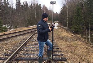 Геодезическая съемка железнодорожных путей выполнена для изготовления технического плана. Владимирская область.
