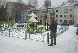 Топографическая съемка для подготовки схемы размещения детской площадки. г. Сергиев Посад, ул. Железнодорожная