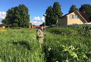 Топографическая съемка выполнена для подготовки межевого плана. Сергиево-Посадский муниципальный район