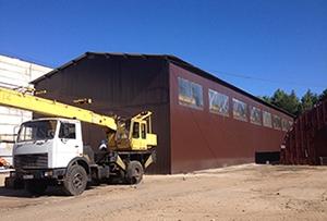 Обмер производственного здания площадью 750 кв.м. для изготовления технического плана.